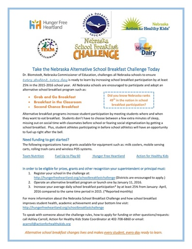 Nebraska School Breakfast Challenge